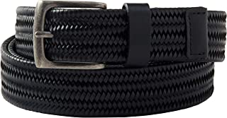 KingSize Men's Big & Tall Stretch Leather Braided Belt