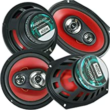 """Pair of Audiobank AB6970 6X9 700 Watts 3-Way and Pair of Audiobank AB1673 6.5"""" 400 Watts 3-Way Blue Car Audio Stereo Coaxi... photo"""