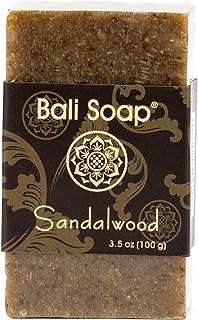 Bali Soap - Sandalwood Natural Soap Bar, Face or Body Soap Best for All Skin Types, For Women, Men & Teens, Pack of 3, 3.5...