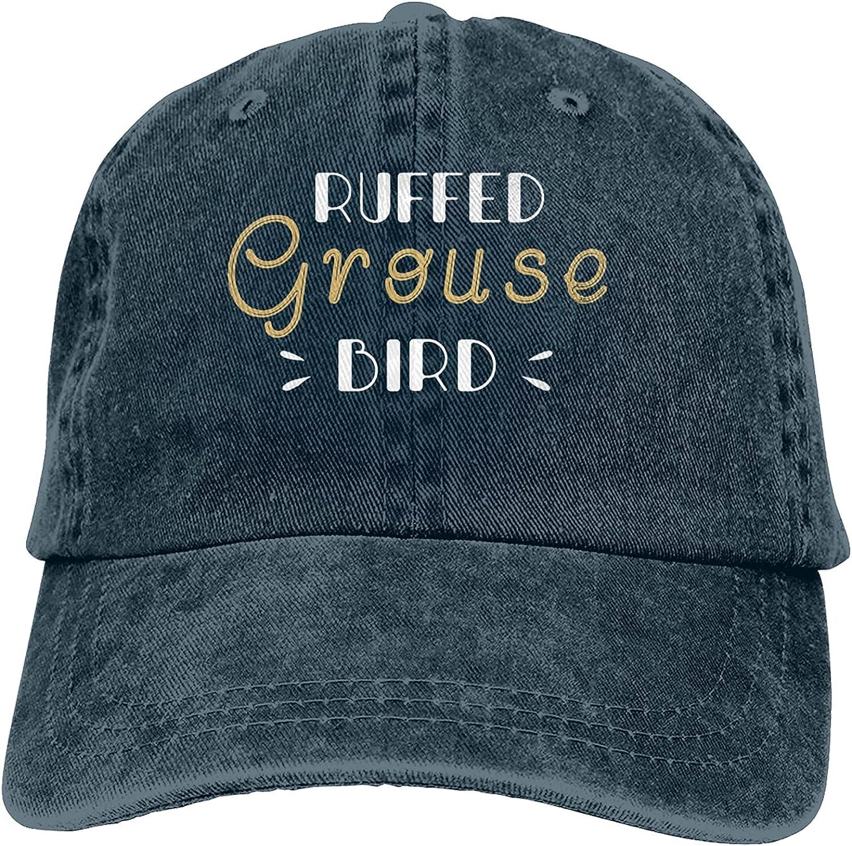 Ruffed Grouse Bird Baseball Cap Trucker Hat Retro Cowboy Dad Hat Classic Adjustable Sports Cap for Men&Women Navy