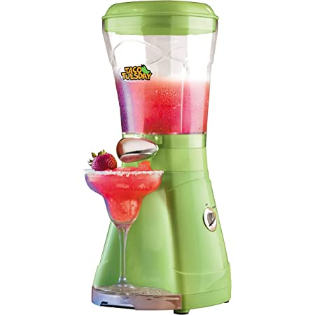 Nostalgia Taco Tuesday 64-Oz Frozen Margarita & Slush Blender with Easy-Flow Spout for Margaritas, Daiquiris, Slushies & Frozen Blended Drinks, Green