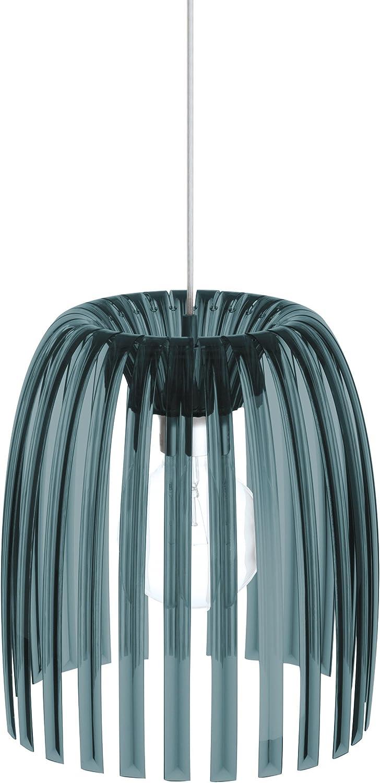 Koziol Pendelleuchte  Josephine M,  Kunststoff, transparent anthrazit, 31,3 x 31,3 x 35 cm