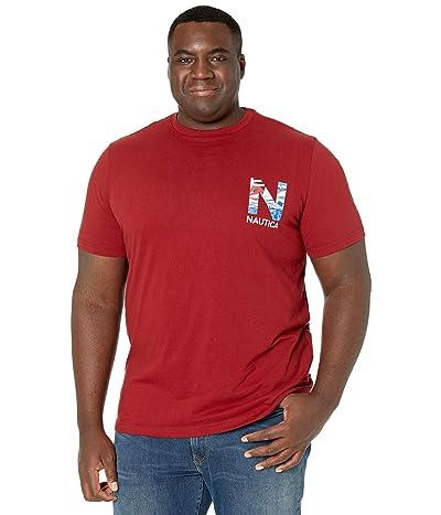 Nautica Big & Tall Big Tall Short Sleeve T-Shirt Crew Neck