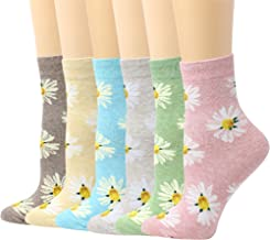 LIVEBEAR Multi-Pack Womens Cute Prints Patterns, Novelty, Casual Cotton Crew Socks Made In Korea