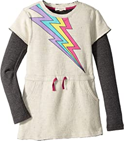 Soft Jess Dress with Multicolored Lightening Bolt (Toddler/Little Kids/Big Kids)