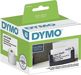 Dymo LabelWriter etichette per badge non adesive, 51 x 89 mm (rotolo da 300), stampa nera su bianco, S0929100