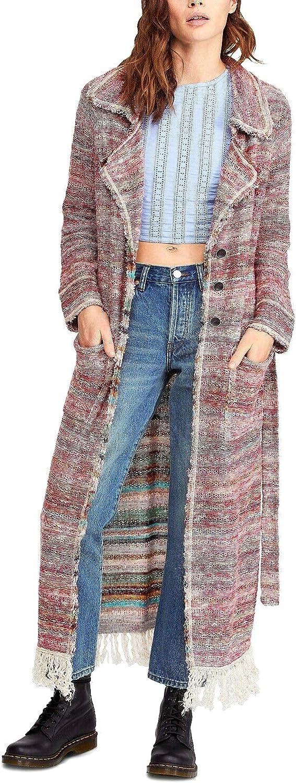 Free People Womens Desert Sunrise Long Topper Cardigan Sweater