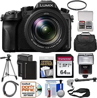 Panasonic Lumix DMC-FZ2500 4K Wi-Fi Digital Camera with 64GB Card + Battery & Charger + Case + Flash + Tripod + Filter + Strap + Kit