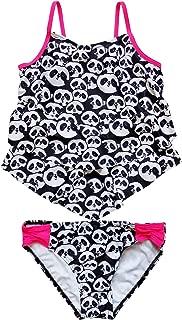 Swim Girls' Two Piece Tiered Tankini Swimsuit Bathing Suit