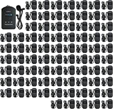 EXMAX EXD-101 2.4GHz Wireless Audio Tour Guide System Translation Headphones Equipment for Church,Teaching,Translation, Conference, Seminars, Hajj, Auditorium, Travel - 1 Transmitter & 80 Receivers
