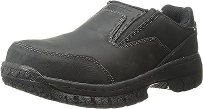 Skechers for Work Men`s Hartan Steel Toe Slip-On Shoe