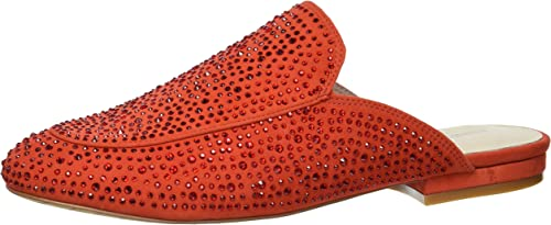 Kenneth Cole New York Wohommes Walden Shine Glitzy Flat Slip On Loafer, Persimmon, 6.5 M US