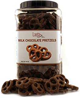 Milk Chocolate Covered Pretzels, Salted Pretzels in Smooth Milk Chocolate, 40 Ounces
