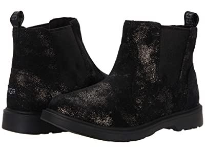 UGG Kids Bolden Metallic (Little Kid/Big Kid) (Metallic Black) Girl