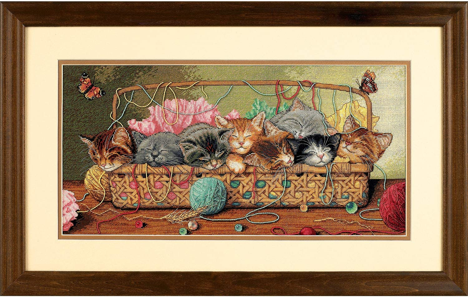 Dimensions Gold Collection Counted Cross Stitch Kit, Kitty Litter, 18 Count Ivory Aida, 18'' x 9''
