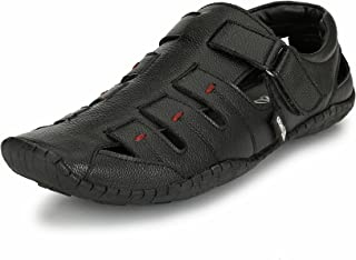 EL PASO Men's Black Synthetic Leather Casual Sandals