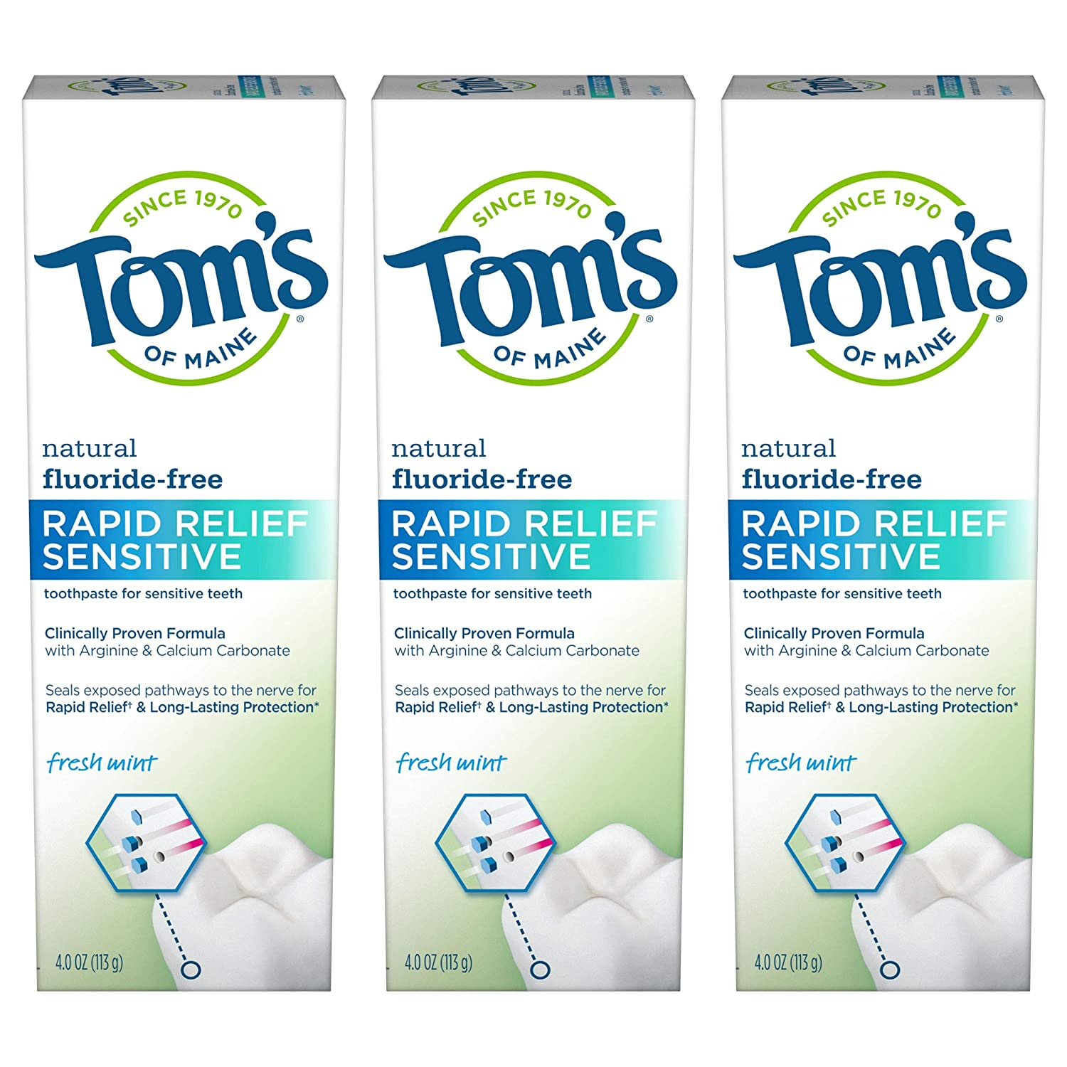 Tom's of Maine Fluoride-Free Ranking TOP15 Relief Toothpaste Sensitive Max 61% OFF Rapid