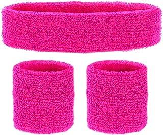 Widmann 05832 - Schweißbänder, 3-teiliges Set, Stirnband und 2 Armbänder, Sport, Accessoires, 80er Jahre, Trainingsanzug, ...