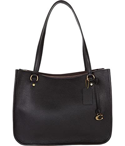 COACH Polished Pebble Leather Tyler Carryall