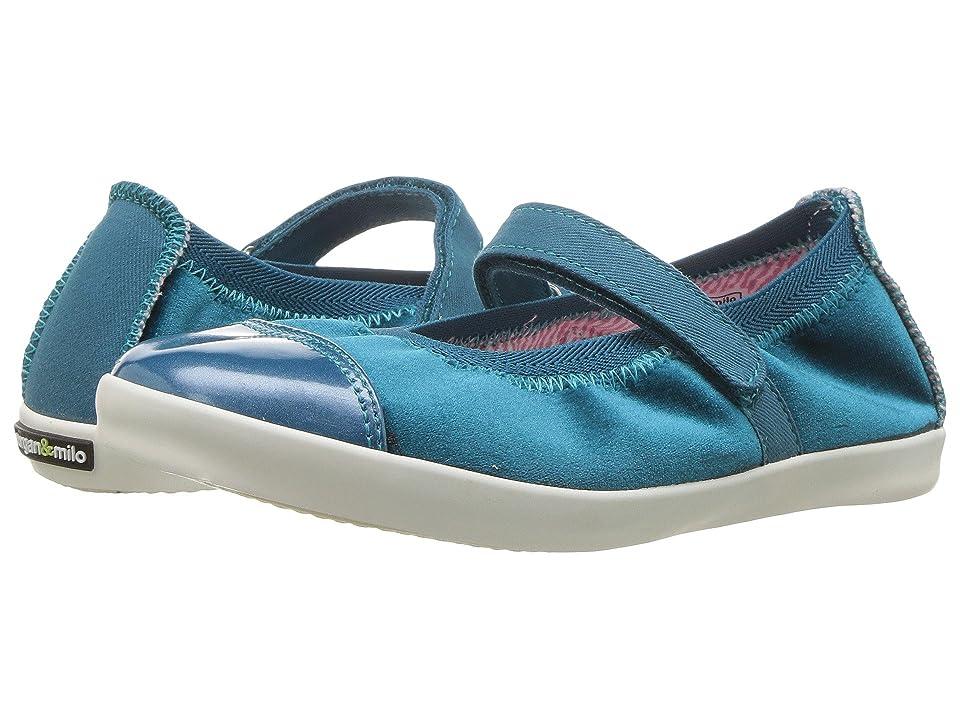 Morgan&Milo Kids Olivia Velvet Mary Jane (Toddler/Little Kid) (Aqua) Girls Shoes