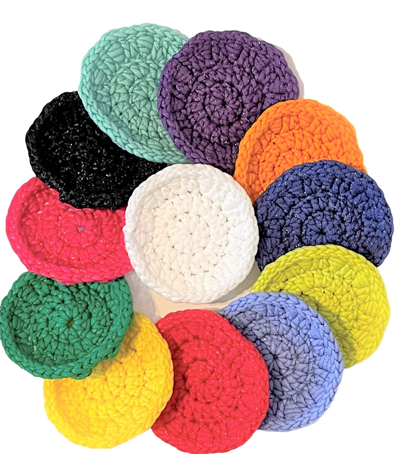 Round Free Super beauty product restock quality top! Shipping New Dish Scrubbie - Single Layer of Yarn 3 R Set Acrylic