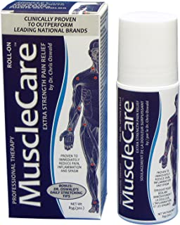 MuscleCare Natural Pain Relief Gel, Extra Strength Roll-On, Topical Analgesic