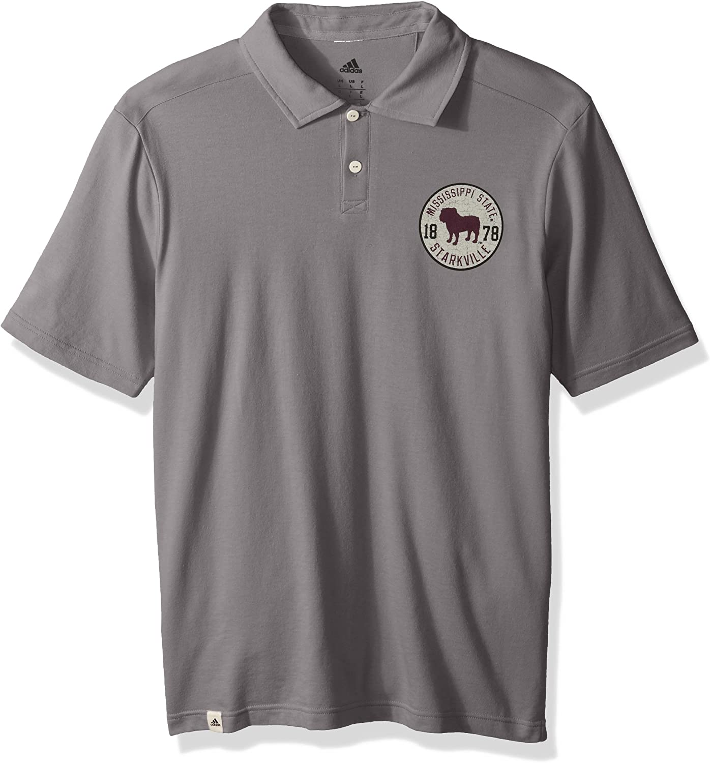 NCAA Mens Crackled Badge S S Polo
