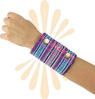 Wrist Wallet. Bracelet Cuff with a Hidden Pocket for Money, Credit Cards, Keys, etc. Mexican Textile
