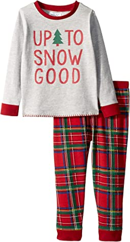Up to Snow Good Tartan Long Sleeve Two-Piece Pajamas (Infant/Toddler)