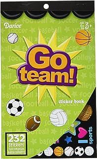 Darice 106-2286 232Piece, Go Team Themed Sticker Book