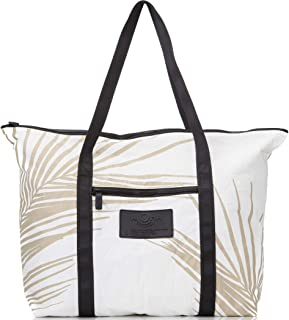 Fronds Zipper Tote in Sand