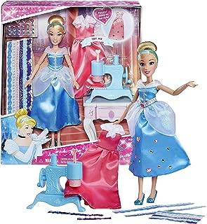 Princess Disney Year 2015 Series 12 Inch Doll Set - Cinderella's Stamp 'N Design Studio with Cinderella, Sew Machine Stamper, Gems and Stickers