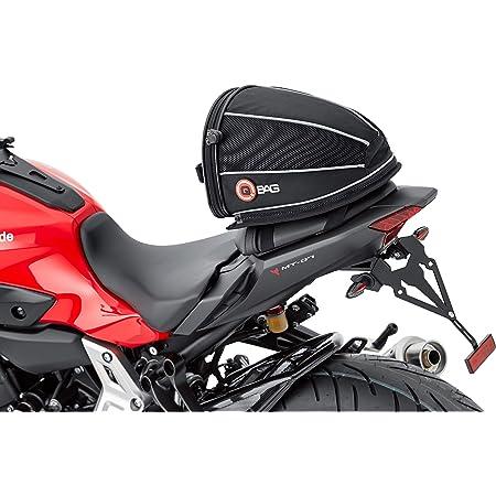 Qbag Hecktasche Motorrad Motorradtasche Hecktasche 06 Abnehmbar Sportlich Mit Öffnungswinkelbegrenzer Stabiler Und Ergonomischer Tragegriff Formstabil Gepolstert Robust Schwarz 4 5 Liter Auto