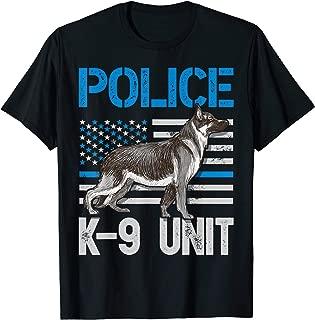 Police K-9 Unit T shirt Thin Blue Line Officer Dog Costume