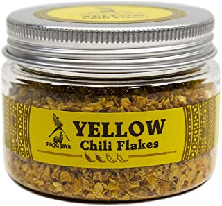 Peruvian Yellow Chili Flakes - Paqu Jaya 1.23oz - Non-GMO, Gluten-Free, Vegan | Fruity and Citrus Heat Pairs Well with Seafood, Poultry and Noodle Dishes | Used Globally by Top Chefs!
