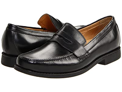 Johnston & Murphy Ainsworth Penny Loafer (Black Veal) Men