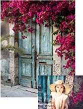 Kate 5x7ft Blue Wood Door Photography Backdrops Nature Flowers Backgrounds for Children Photo Background