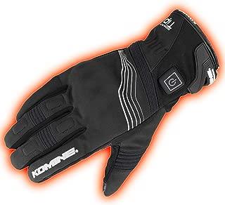 コミネ KOMINE バイク プロテクトエレクトリックグローブショート12V 手袋 電熱 発熱 防寒 Black/L 08-202 EK-202