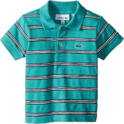 Lacoste Kids Striped Cotton Mini Pique Polo (Infant/Toddler/Little Kids/Big Kids)