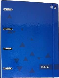 Caderno Argolado Cartonado Universitário com Elástico Lunix Azul 80 Folhas,Tilibra - 1 un