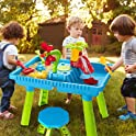 TEMI Toddler Activity Sand Water Table with 27-Pieces Accessories