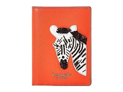 Kate Spade New York Safari Passport Holder (Tamarillo) Handbags