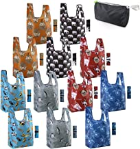 Reusable-Grocery-Bags-Shopping-Totes 12 Pack Animal Bags with Elastic Zipper Bags Xlarge 50LBS Cute Gift Bags Machine Wash...