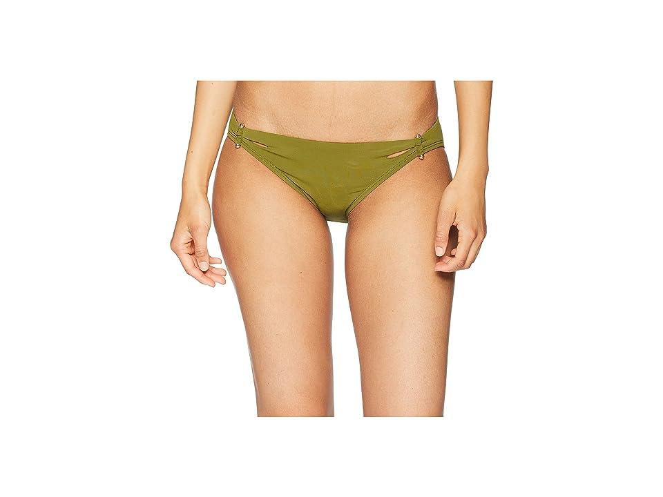 Robin Piccone Luca Cutout Bikini Bottom (Moss) Women