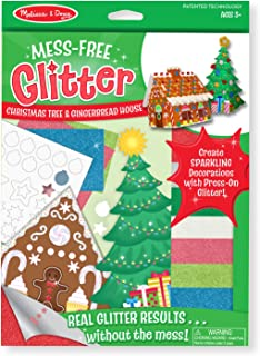 Melissa & Doug Mess-Free Glitter Christmas Tree and Gingerbread House