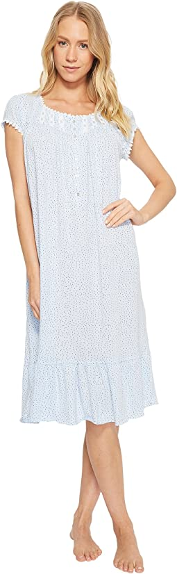 Eileen West - Cotton Sheer Jersey Waltz Nightgown