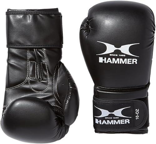 Hammer Premium Gants de Boxe pour l'entraîneHommest Noir Noir