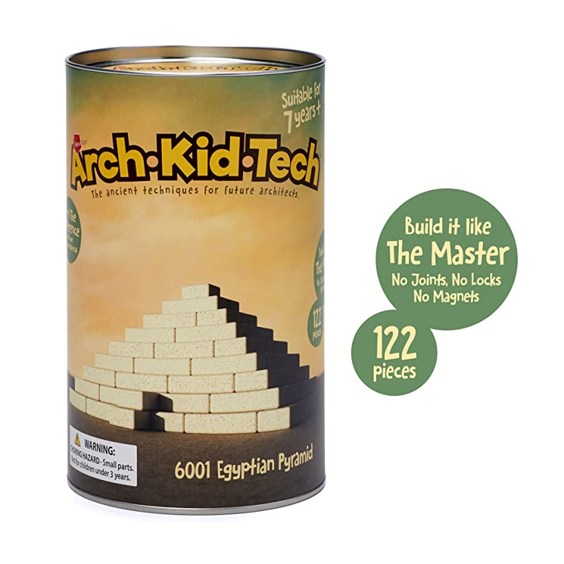 Taksa Toys Arch?Kid?Tech Egyptian Pyramid – Architectural Building Blocks Set for Learning History and Ancient Building Techniques