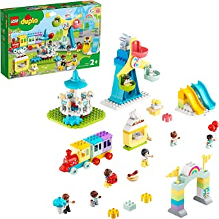 LEGO 10956 DUPLO Amusement Park Fairground with Train, Carousel & Ferris Wheel, Building Toy 2+ Years Old, New 2021