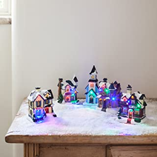 Battery Operated LED Light Up Christmas Village Scene